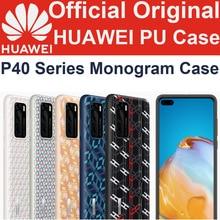 רשמי המקורי Huawei P40 פרו Monogram מקרה יוקרה PU מונוגרמה טלפון מקרה עבור HUAWEI P40 פרו P40 מקרה כיסוי אחורי