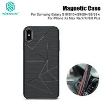 Nillkin Draadloos Opladen Autolader Magnetic Case Voor Samsung Galaxy S10 S9 S8 Plus Voor Iphone 11 Pro Max Xs max X Xr 8 Plus