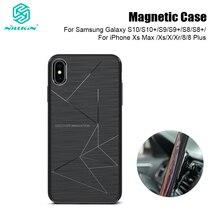 Nillkin Drahtlose Lade Auto Ladegerät Magnetische Fall für Samsung Galaxy S10 S9 S8 Plus für iPhone 11 Pro Max Xs max X Xr 8 Plus