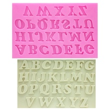 3PCS Alphabet Capital/Letter/Number Silicone Fondant Mold Decorating Tool Cake Molds Set Candy Chocolate
