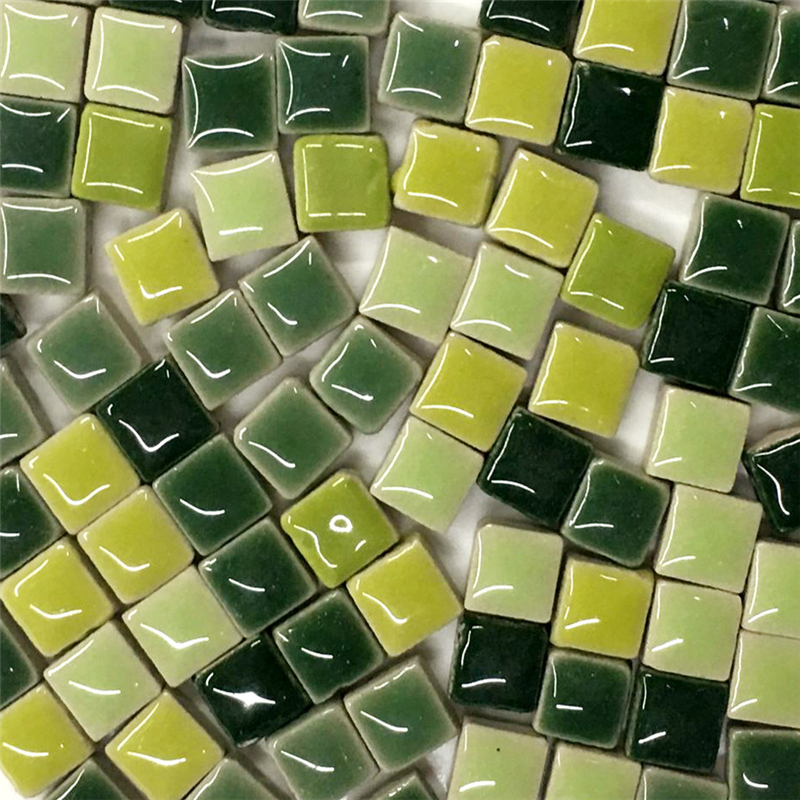 100g DIY Ceramic Mosaic Tiles Glass Mirror Handmade Ornaments Tiles Wall Crafts Colorful Crystal for Decorative Materials