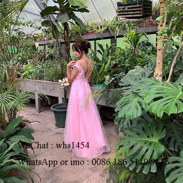 Mbcullyd V-neck Light Blue Bridesmaid Dresses For Women 2020 Long Wedding Guest Dress Applique Lace sukienki na wesele damskie 5
