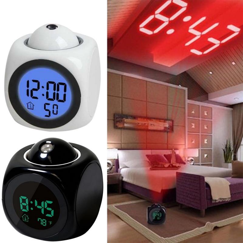 Новые креативные Проекционные цифровые часы с ЖК-дисплеем и будильником, будильник с подсветкой, светодиодный проектор, домашние часы с тай...