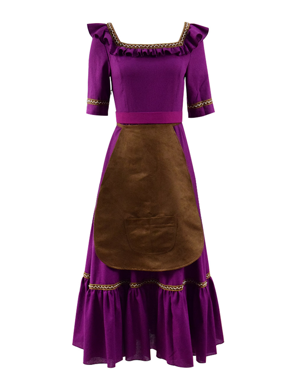 Cosdaddy Mamá Imelda Purple Dress Halloween Cosplay Costume For Women With Apron