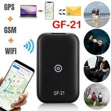 2021 GPS Real time Driving Tracker Anti lost GF21 Mini Device Voice Control Recording HD Microphone WIFI + LBS + GPS Pos Locator