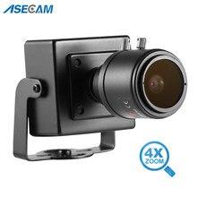 Super 4MP Starlight-cámara de seguridad con Zoom 4X AHD, Mini vídeo de vigilancia, cuadrados pequeños, CCTV, a prueba de vandalismo, de Metal negro, Varifocal