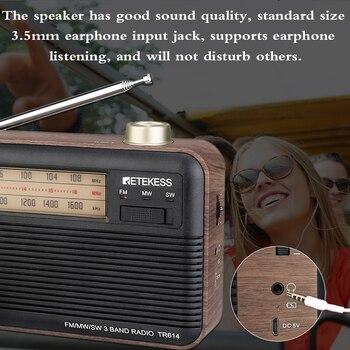 Радиоприемник RETEKESS TR614 FM/MW/SW 5