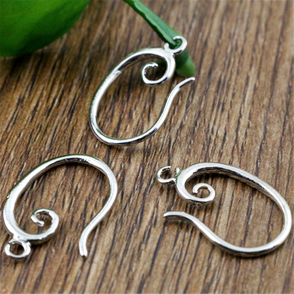 10pcs ( 5pair) 19x11mm Rhodium Colors Plated Popular Ear Hooks Earring Wires For Handmade Women Fashion Jewelry Earrings-L2-48