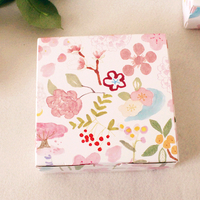 Folwer Printing Gift Boxes Cookies Candy Sweet Wedding Craft Paper Cardboard Packaging Paper 100pcs/lot