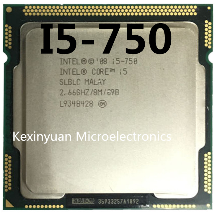 Intel Core I5 750 I5-750 2.5GHz/ 8MB Socket LGA 1156 CPU Processor Supported Memory: DDR3-1066, DDR3-1333