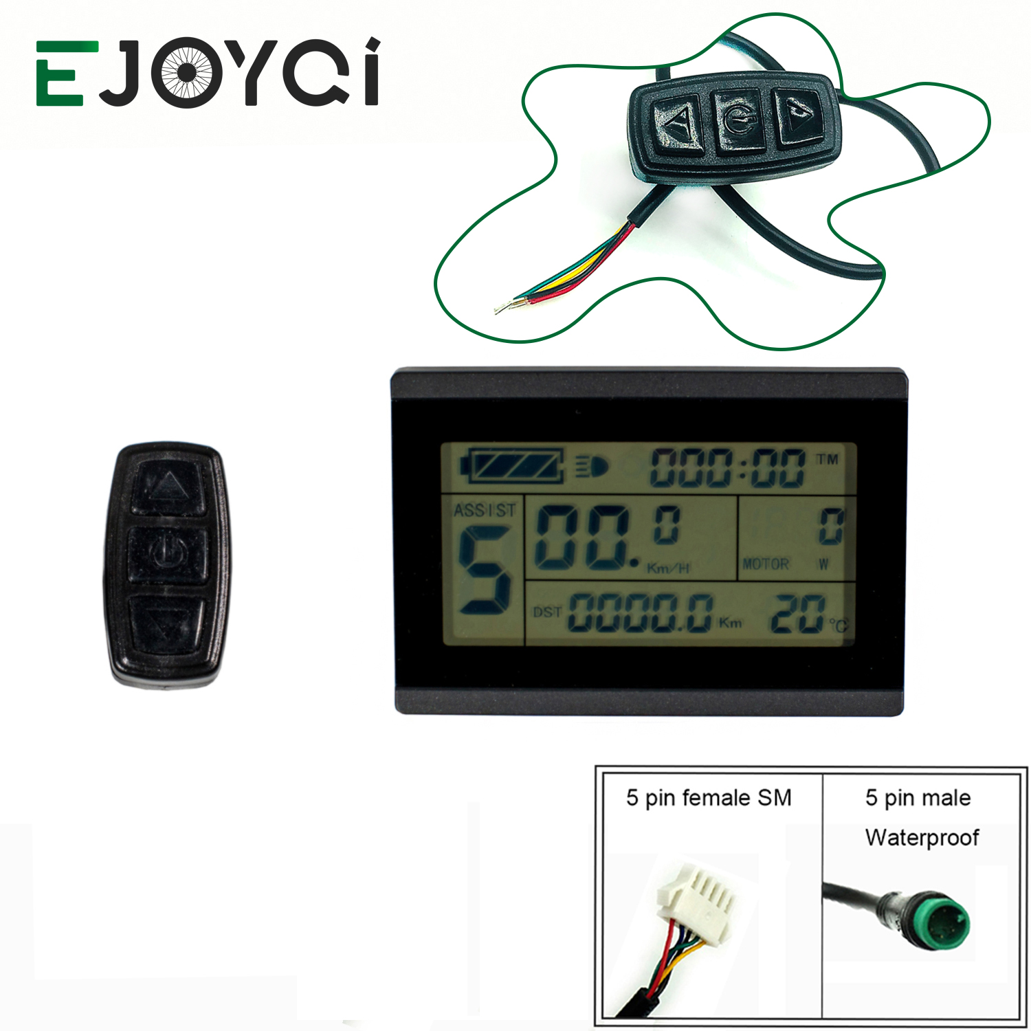 EJOYQI KT LCD3 Display 24V 36V 48V 72V Ebike Computer Panel Operator Ebike LCD Display For Electric Bicycle Conversion Kit