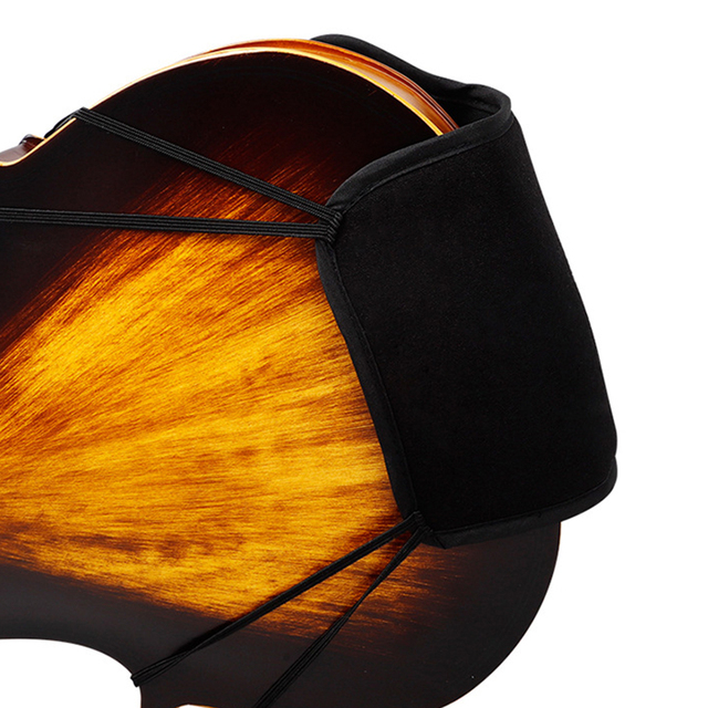 Violin Chin Shoulder Rest Soft Cotton Pad Sponge Cover Protector for 3/4 4/4 Bridge Type Violin Fiddle Shoulder Pad Accessories