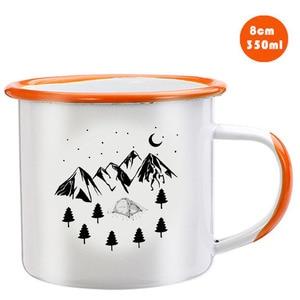 Image 4 - Stainless Steel Camping Coffee Mug Birthday Christmas Outdoors Metal Enamel Campfire Cup Custom Milk Enamel Mugs