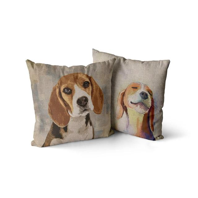 My Favorite Beagle Pillow  2