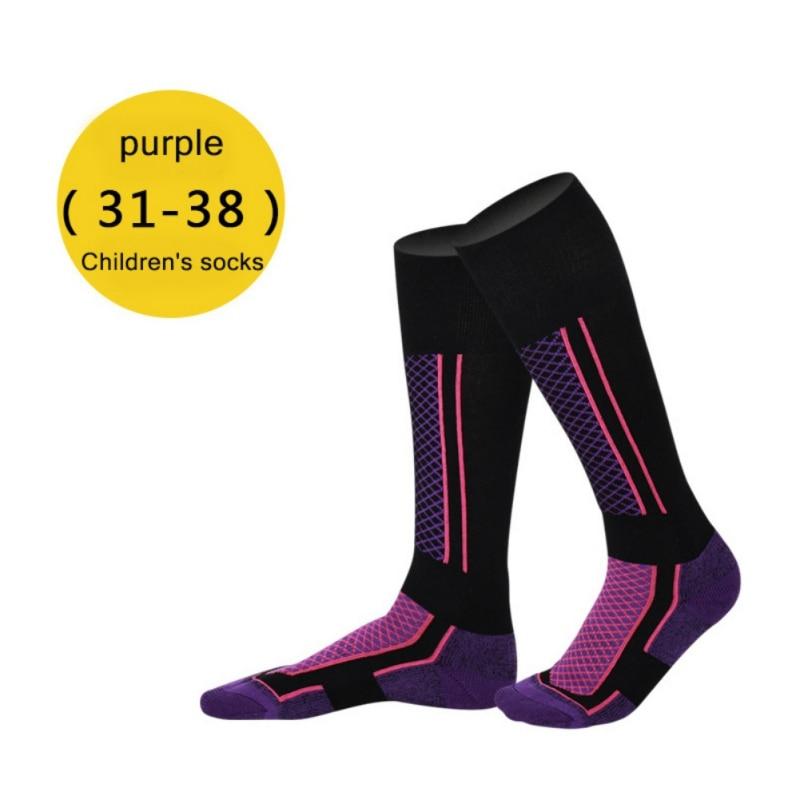 Children Ski Socks Winter Thermal  Cotton Thicken  Socks Cycling Skiing Hiking Stocking Socks Leg Warmer