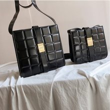 Weaving Pillow Bag Cowhide Shoulder Bag Padded Cassette Genuine Leather One-shoulder Designer Bags Famous Brand Women Bags 2019(China)