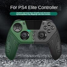 עבור PS4 משחקי קונסולת עלית אלחוטי Bluetooth רטט Gamepad ג ויסטיק מודולרי לתכנות בחזרה כפתור טורבו משחק בקר