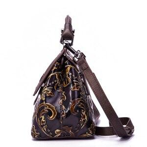 Image 3 - Bolsa feminina de couro legítimo, nova bolsa feminina modelo carteiro feita em couro legítimo com alça carteiro e alça de mão