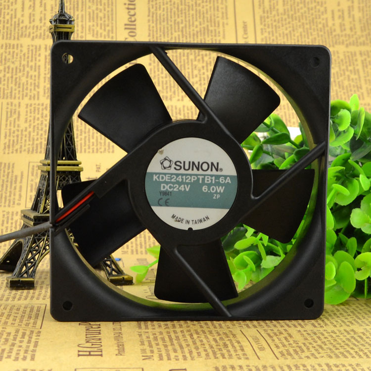 Original authentic FOR SUNON Jianzhan KDE2412PTB1-6A DC24V 6.0W <font><b>12</b></font> <font><b>cm</b></font> cooling <font><b>fan</b></font> image