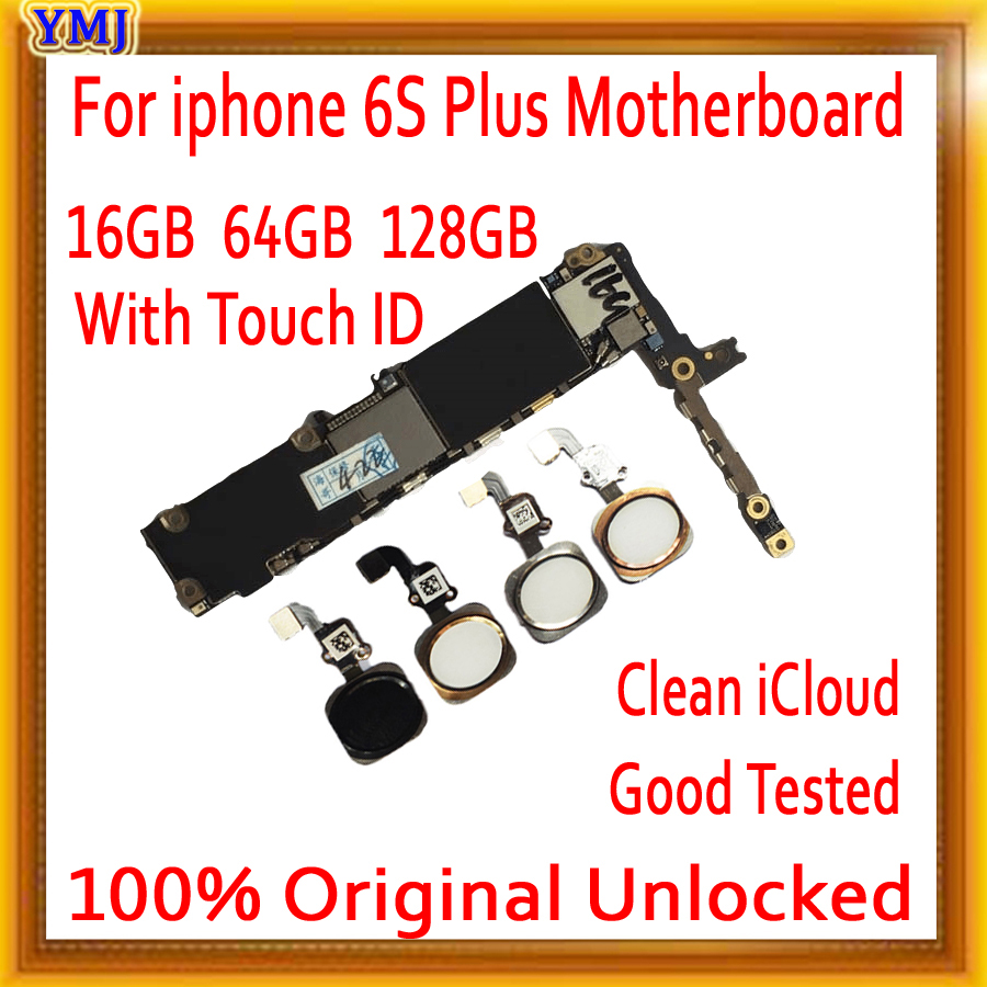 16gb / 64gb / 128gb for iphone 6s plus Motherboard,Original unlocked for iphone 6s Plus Mainboard without Touch ID/With Touch ID image
