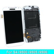 цена на For Samsung Galaxy S4  i9500 i9505   Phone LCD Display Touch Screen Digitizer Assembly with Brightness Control