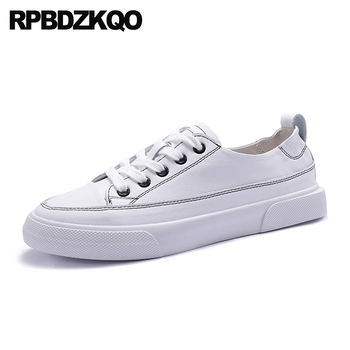 round toe 2019 flats women female casual lace up designer shoes china white korean size 35 ladies latest drop shipping chinese