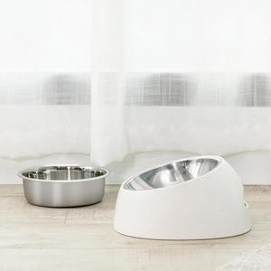 Image 4 - Xiaomi mi home pet tilt basin double liner tilt design non slip grip health material cat dog universal pet dog bowl