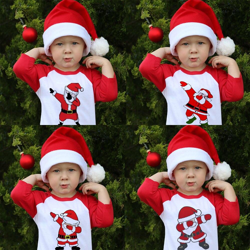 H780617b1d84d41a9a2bf71550fcae8f7j Kids Girls Boys Dabbing Christmas T-shirts Clothes Baby Santa Claus T Shirt Children Clothing s Tshirt T-shirt Baseball Tees