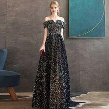 Сексуальное платье с блестками вечернее для женщин 2020 новое