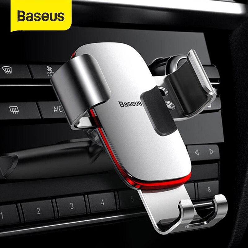 Soporte de teléfono de coche de gravedad Baseus soporte de teléfono inteligente soporte de coche soporte de ranura de CD soporte de teléfono móvil para soporte de Carga de coche