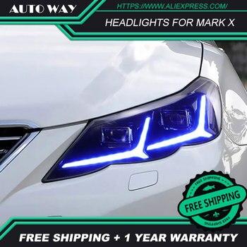 Car Styling For Toyota Mark X headlights ALL led Reiz 2010-2013 Led head lamp ALL LED Mark X Headlight Daytime Running Lights