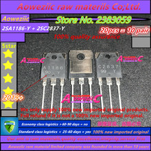 Aoweziic 2019 + 100 новый импортный оригинальный 2SA1186 Y 2SC2837 Y 2SA1186 2SC2837 A1186 C2837 TO 247 усилитель мощности транзистор