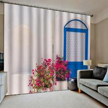 Modern custom 3d curtains small fresh and simple style flower Thickened blackout