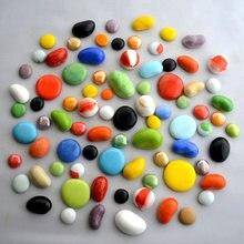 1000g плоская бусина галька Стекло камень домашний декор ПЭТ