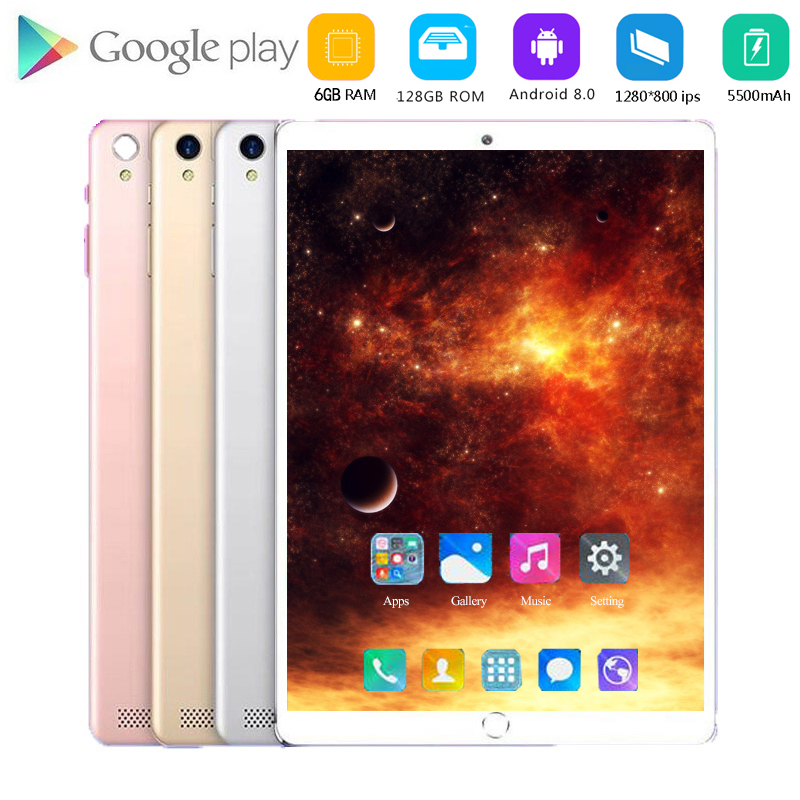 2020 Multi-touch Glass Screen 10.1 Inch Octa Core 4G FDD LTE Tablet 6GB RAM 128GB ROM 1280 800 Dual Cameras Android 8.0 Tablet