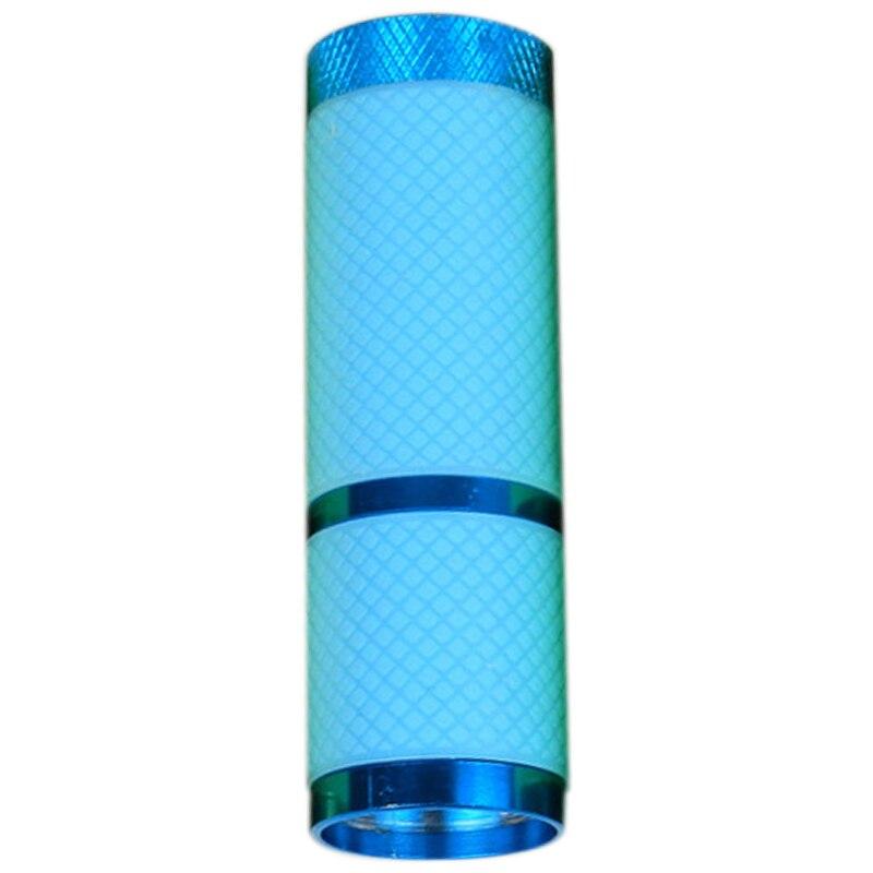 New Lighting Drying Nail Polish Flashlights 9Led Mini Nail Flashlight Portable Nail Polish Dryer Uv Gel Dryer Blue