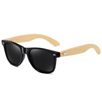 GM Bamboo Sunglasses Men Wooden Sun glasses Women Brand Original Wood Temple Glasses Oculos de sol masculino