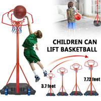 Children Hanging Basketball Stand Indoor Adjustable Basketball Hoop Toys Kit Home Sports Game Toy Set For Kids Children Adults
