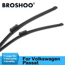 цена на BROSHOO Car Wiper Blade For Volkswagen Passat B5 B6 B7 Model Year From 1999 To 2015 Fit Standard Hook/Push Button/Side Pin Arms