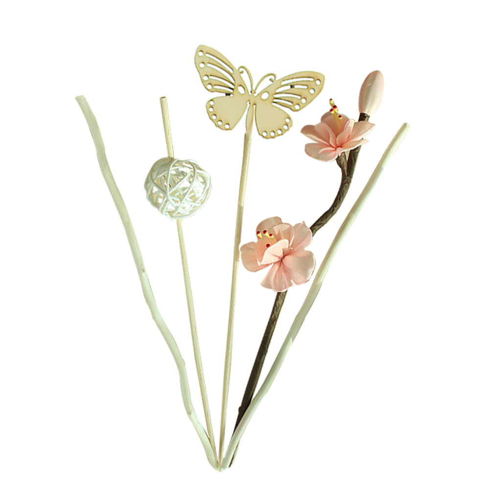 Home Fragrance Reed Gift Car Essential Oil Diffuser Ceramic Bottle No Fire Hotels Decoration Spa Aroma Sticks Fresh Air