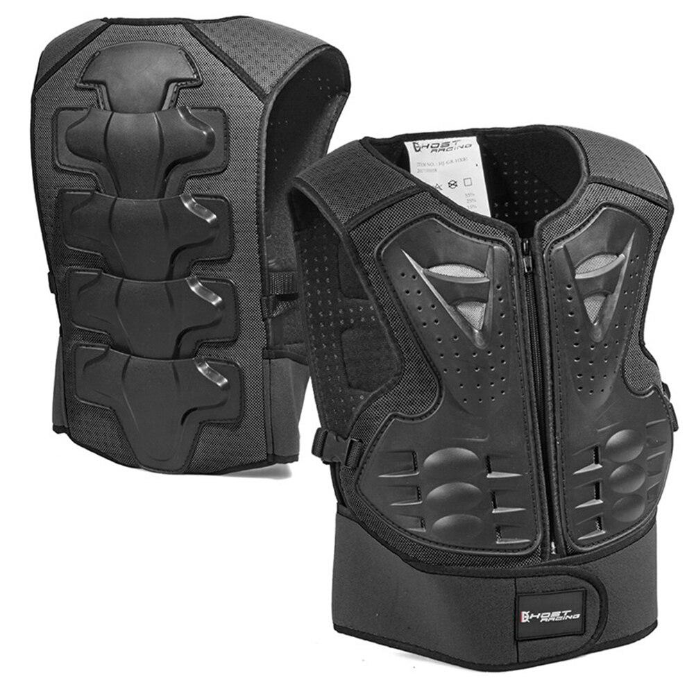Ghost racing colete infantil de proteção, armadura com proteção traseira para motocicleta, motocross, corrida, equipamento de proteção