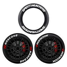 Pegatinas con letras para neumático de coche, pegatinas de alta calidad de caucho elevado, decoración de neumáticos, 8 Uds.