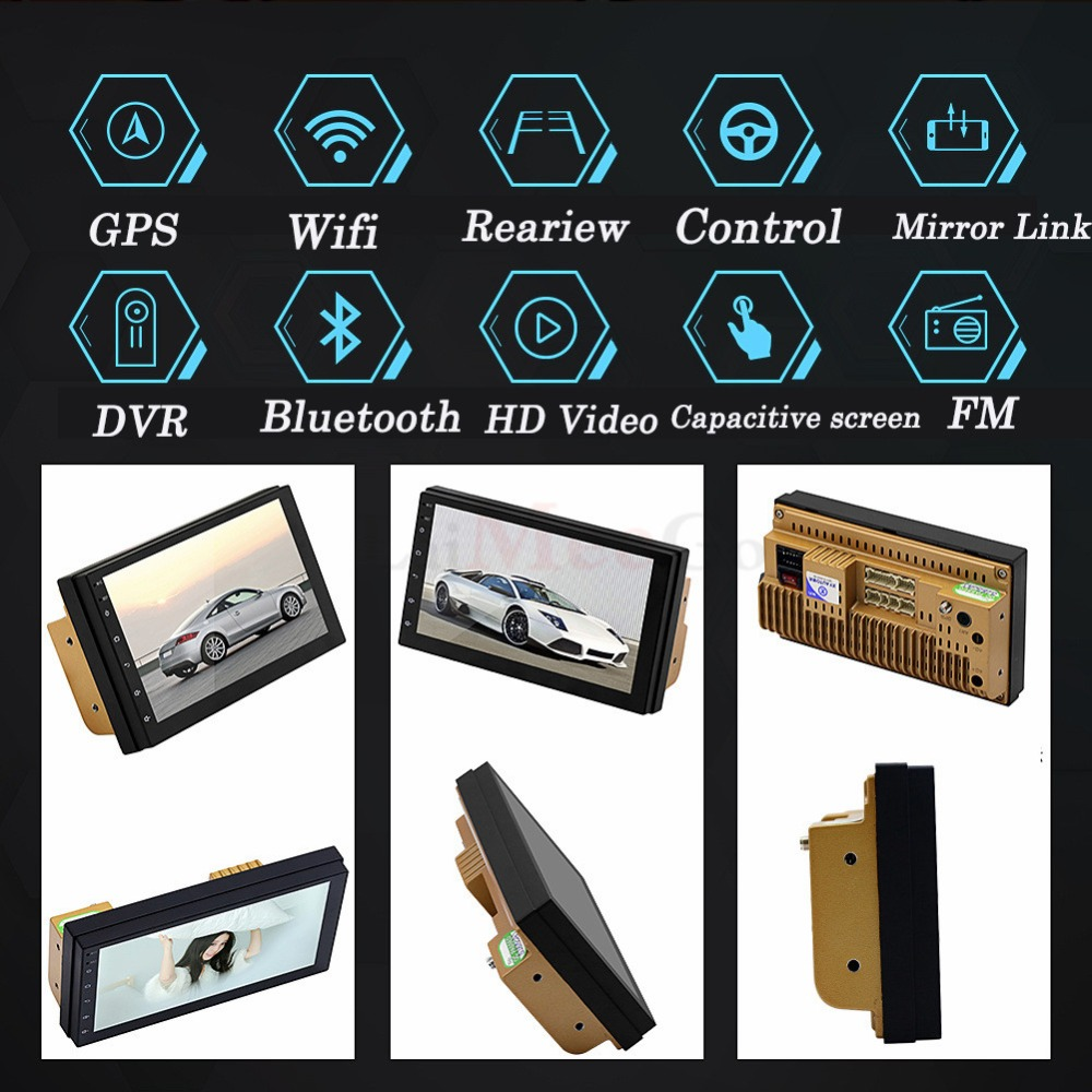 2din Car Multimedia Player 7 Android Car stereo Radio GPS WIFi Autoradio Bluetooth Mirrorlink Tape recorder Car Monitor camera (12)
