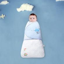 цена на Ouyun Baby sleeping bag baby anti startle 100% cotton 0-6month baby bag newborn sleeping bag