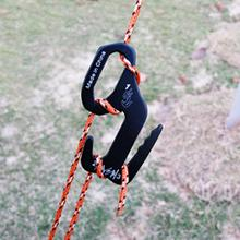 цена на 5PC Rope Tightener Tie Down Outdoor Camping Hiking Canopy Tent Wind Rope Buckle 9-shaped Aluminum Alloy Hook Rope Buckle