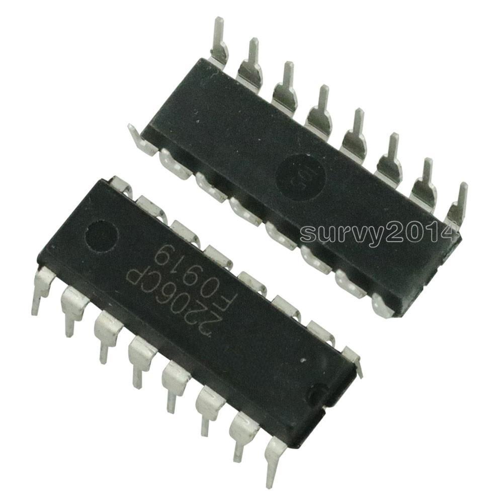 2PCS XR2206 XR2206CP Monolithic Function Generator IC 16 PIN DIP