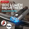 GACIRON Pro Fahrrad Licht Fahrrad Scheinwerfer Power Bank IPX6 Wasserdichte MTB Road Radfahren Taschenlampe LED Lampe Mit schwanz licht set