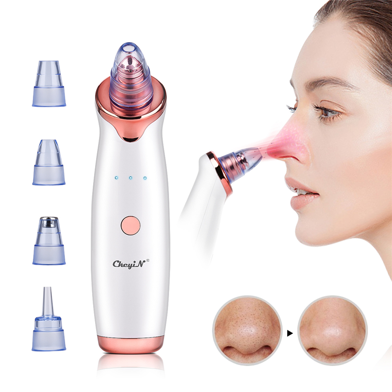 Electric Vacuum Suction Cleaner Face Cleaning Blackhead Removal Black Spot Facial Cleansing Machine Skin Scrubber Pore Cleanser