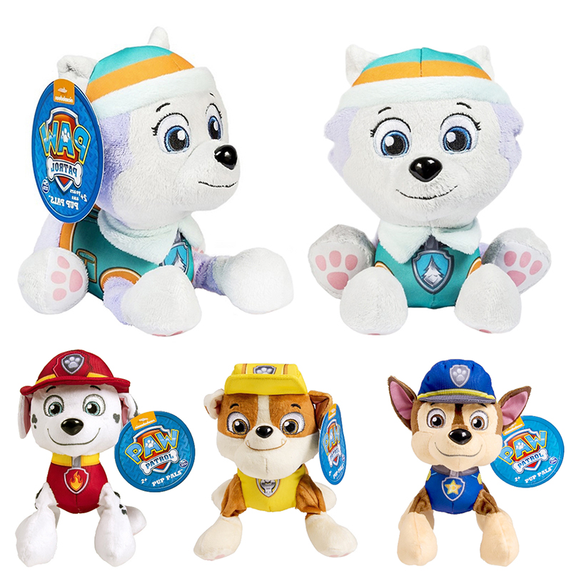 Paw Patrol Ryder Everest Tracker Cartoon Animal Stuffed Plush Toys Model Patrols Toys Party Dolls For Child Birthday Xmas Gift
