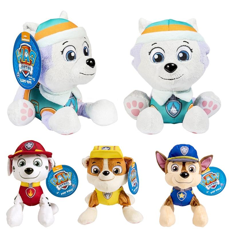 Paw Patrol Ryder Everest Tracker Cartoon Animal Stuffed Plush Toys Model Patrols Toys Party Dolls For Child Birthday Xmas Gift